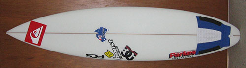 Gun Version of Rounded Square/Squash Tail Surfboard