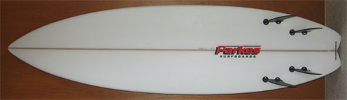 Super Fast Swallowtail 4 fin Surfboard by Parkes